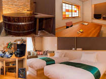 25畳の和洋室「佐嘉の間」で過ごす大人の贅沢な時間・4尺樽風呂・オーディオ名機・最高品質アメニティ