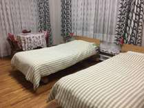 たちばな(トリプル) 2名でご宿泊時のベッドメーキング