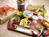 ◆【別館:夕食~潮彩コース~】浜茹で花咲ガニをお付けしたオススメのコースです!