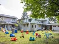 ★遊具が沢山有る広い庭は、子供達に大人気♪