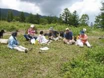 高原でのお昼は弁当がおいしい。