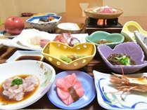 *【夕食】一例/旬の食材を使用したボリューム満点の食事