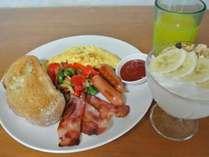 洋食タイプの朝食