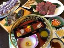 和懐石プランは旬の食材を料理長が厳選。美味しいものを少しづつ。。。バイキング付きの満足プラン♪