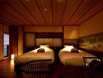 常盤(京町屋トリプル風和室)ツインもしくはトリプルのお部屋です。