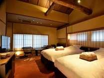 牡丹(京町屋トリプル風和室)開放感のあるお部屋です。床は段通でふかふかです!