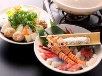 【鍋会席】海の幸を堪能「うしお鍋」。(※コース一例)