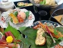 季節の会席料理。お料理の一例