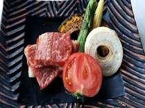 メインが選べる特選プラン牛のステーキ