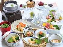 向洋初夏の会席料理一例