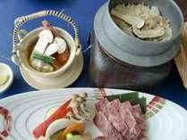 松茸釜飯と土瓶蒸し&A4ランク国産和牛がメイン