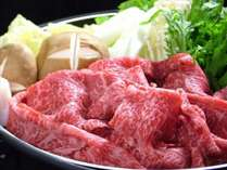 ジャージー牛肉を使ったすき焼きやしゃぶしゃぶ。【楽チンお鍋プラン】ではとっても手軽にご提供!