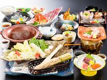 ≪4月~9月≫エソにふぐ、むつみ豚などデザートまで美味しさいっぱいの「花衣会席」