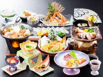 ≪4月~9月≫ズワイ蟹にふぐ、むつみ豚などデザートまで美味しさいっぱいの「花衣会席」