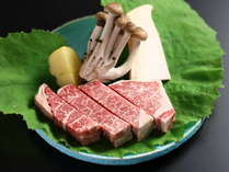 信州牛ヒレ肉のステーキ:当館のお料理プランで一番贅沢なプラン