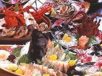 【全20品一例】一品料理がずらり。活け伊勢えび平目アワビ、和牛陶板、宝楽、海老黄身煮、包み焼きなど