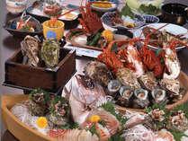 天婦羅・陶板焼きで味わえる伊勢海老+地元産牡蠣料理2種付きのご夕食♪(イメージ)