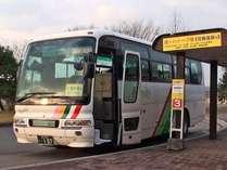 新花巻駅から発車する無料送迎バス「湯~ハトーブ号」は、3番乗り口から