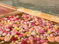 【ホテル千秋閣 千秋の湯】バラ風呂のコーナー(女子大浴場 14:00~21:30)