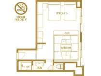 【禁煙和洋室46.9平米】間取り図