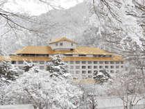 【冬の外観】朝、窓の外に広がる雪景色は絶景です!