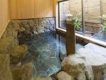 貸切風呂【岩風呂】おふたりでゆったりご利用ください。
