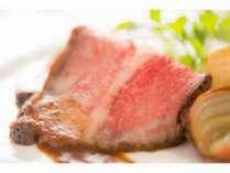 """夕食のメインは特選和牛の""""ローストビーフ""""をご賞味下さい♪"""