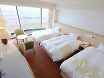 ◆スタンダードトリプル(33平米)ベッドはデュベスタイルでセミダブル