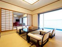 ◆デラックス和室(10畳+次の間/エグゼクティブフロア)和の粋を結集し、やすらぎを感じられる和室