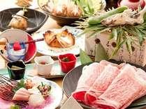 特別懐石料理熊本県産の黒毛和牛使用