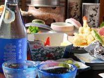 *【お夕食一例】地のもの、旬の食材を活かした和会席料理。地元のお酒と相性抜群です!
