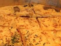ご朝食バイキングのキッシュ。卵焼きの中に野菜がたっぷり♪栄養満点メニュー