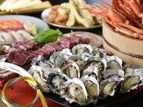 【新春特別】蟹・牡蠣・ステーキ食べ放題ブッフェ&多島美温泉