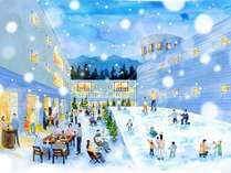 2018年12月28日、ホテル内にミニゲレンデ誕生!手軽なスキー・雪遊びデビューにぴったり(3/10まで)。