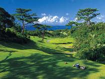 【2サム確約/リゾートゴルフ】青い海を眺めながら広がる空へショット!1ラウンドプレー付き