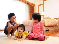 【ウェルカムベビー認定のお宿】お部屋はすべてお子様がいても安心なフローリングです。