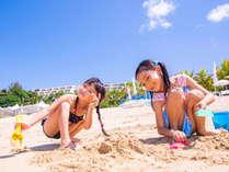 【カヌチャビーチ】やんばるの自然の中で砂遊び