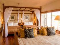 【エグゼクティブツイン】天蓋付きベッドやデイベッドで、ゆったりと過ごすリゾートステイを。