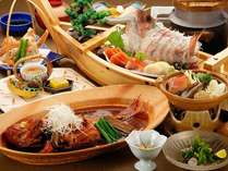 大好評につき金目鯛がついた大満足のご夕食 高評価の口コミ(4.7点)をいただいております