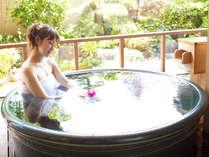 風の棟1階特別和洋室【信楽焼きの陶器露天風呂】お部屋露天にキャンドルを浮かべ癒しのひと時を♪
