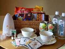 5大特典プランの特典★アロマセット・水・お酒・お菓子・ティセット・キャンドル