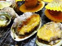 【紀州路会席】あわび サザエ ヒオウギ貝の残酷焼き(お料理一例 写真は2人前です)