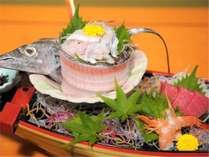 【黒潮会席】【熊野灘会席】太刀魚姿造り まぐろ 海老(お料理一例)