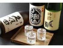 冷酒セットの一例です。5種類のセットからお選び頂けます。