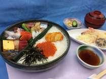 料理長特選素材の海鮮と天ぷら