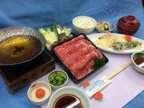 料理長特選ブランド牛すき焼きと天ぷら