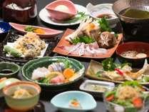 ◆【8月末まで】瀬戸内海の旬食材と選べるメイン《鯛しゃぶor広島牛陶板焼き》~夏の懐石膳~【夕朝食付】