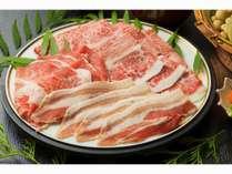 ◆夕食◆鹿児島黒豚・黒牛の2種しゃぶ会席♪(一例)