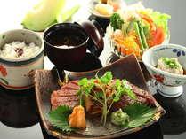【信州牛ステーキ御膳】ガッツリお肉を食べたい方に。