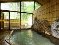 【女湯内風呂】源泉かけ流しの天然温泉です。